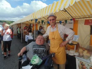 Cardigan Bay Seafood Festival 2015 - A picture of myself with John from Teifi Cheese