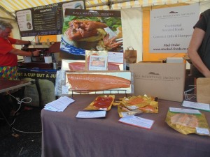 Cardigan Bay Seafood Festival 2015 - The Black Mountain Smokery's stall