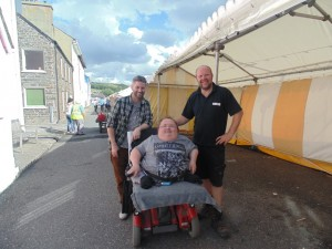 Cardigan Bay Seafood Festival 2015 - Greg and I with Nathan one of the organisers