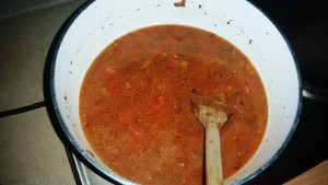 Sausage Meatballs in a Spicy Tomato Sauce - One Tin of Chopped Tomatoes and 500ml approx goes in to the sauce