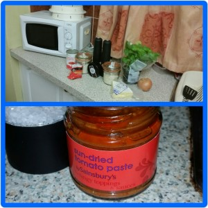 Homemade Microwaveable Tomato Risotto Ingredients