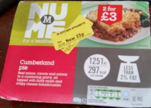 Time-Saving Tuesdays - Morrisons NuMe Cumberland Pie in it's packet