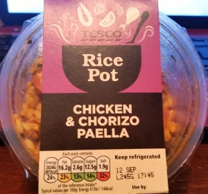 Time-Saving Tuesdays – Chicken and Chorizo Paella in it's packaging