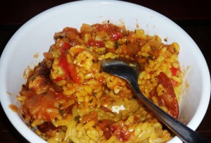 Time-Saving Tuesdays – Chicken and Chorizo Paella ready to eat