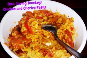Time-Saving Tuesdays – Chicken and Chorizo Paella