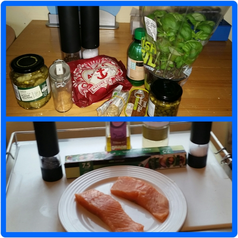 Ingredients for Salsa Steamed Salmon