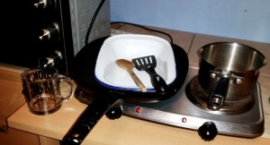 The equipment I used to make Strictly Suppers #5 Cha-Cha-Char Grilled Tuna