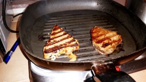 The Tuna cooked in the Griddle Pan ready to serve this week's Strictly Suppers #5 Cha-Cha-Char Grilled Tuna
