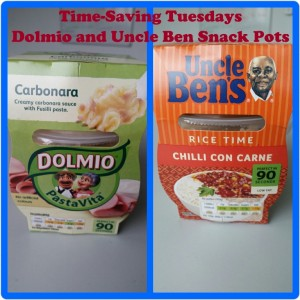 Time-Saving Tuesdays – Uncle Ben's Chilli Con Carne and Rice and Dolmio Pasta Carbonara