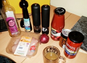 Strictly Suppers 2015 #8 – Tango Chicken and Homemade Chips Ingredients
