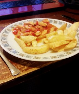 Strictly Suppers 2015 #8 – Tango Chicken and Homemade Chips, serve with what ever you like, but you can't beat homemade chips