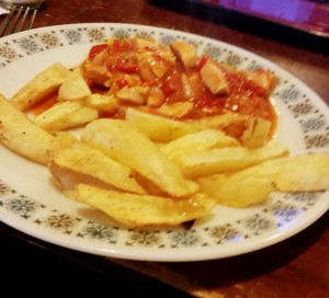 Strictly Suppers 2015 #8 – Tango Chicken and Homemade Chips, serve with what ever you like, if you're not a chicken lover just have the sauce on your chips