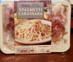 Time-Saving Tuesday – Tesco Italian Spaghetti Carbonara in it's packaging