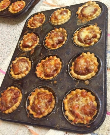 Mini Portable Pizza Pies - The Chorizo Pies read to be eaten