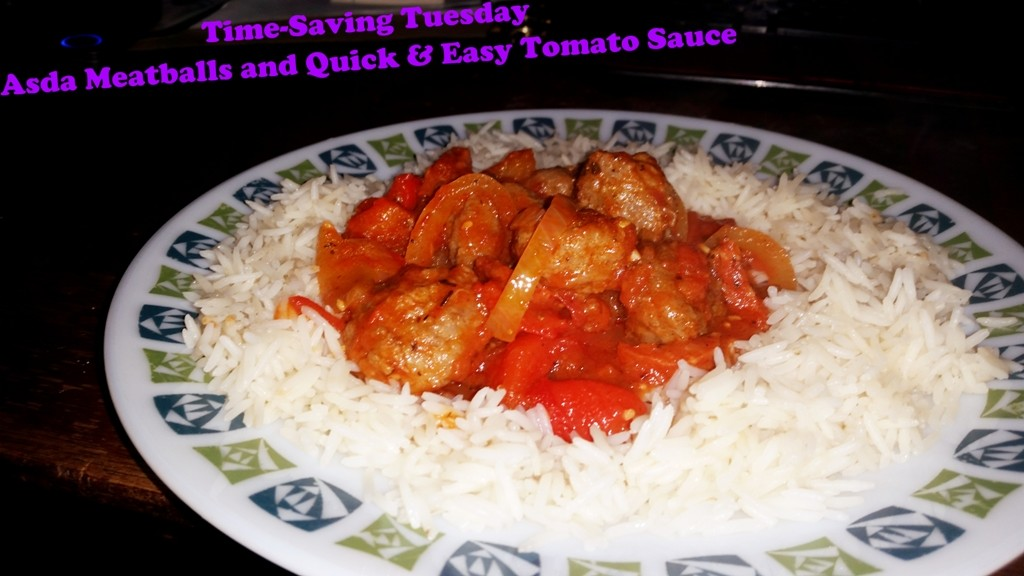 Time-Saving Tuesday – Asda Meatballs and Quick and Easy Tomato Sauce