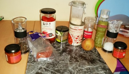 Time-Saving Tuesday – Asda Meatballs and Quick and Easy Tomato Sauce - Ingredients