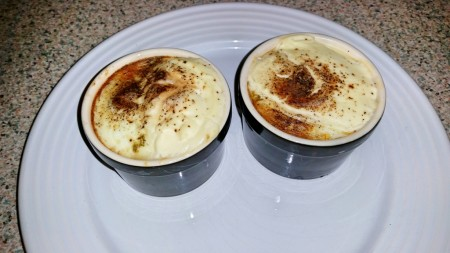 6 Nations of Food – Eggs in pots (oeufs en cocotte) - Ready to eat, but be careful it's hot