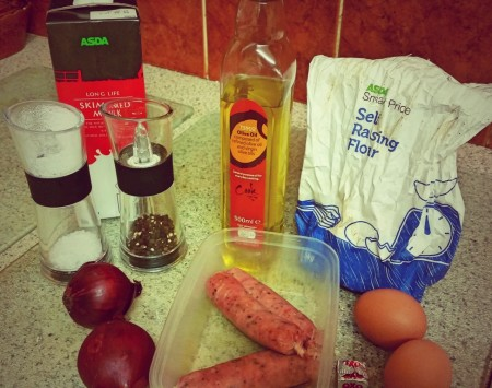 6 Nations of Food – Toad In The Hole, Champ and Onion Gravy - Ingredients