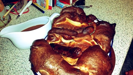 6 Nations of Food – Toad In The Hole, Champ and Onion Gravy - The Yorkshire Pudding and onion gravy in all their glory