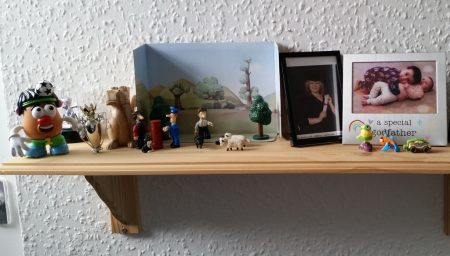 My family shelf in my office