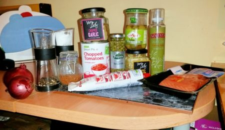Cajun Salmon on a Mediterranean Sauce - Ingredients