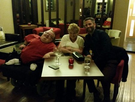 Myself, mam and Greg at Caradog's at the Ty Newydd