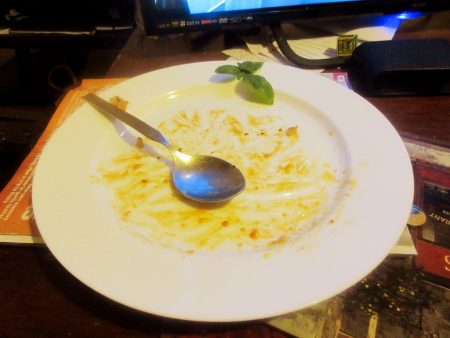 Theo Randall's Tomato Risotto - all gone!