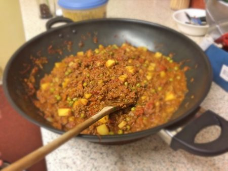 Quorn Keema Masala after it had thickened