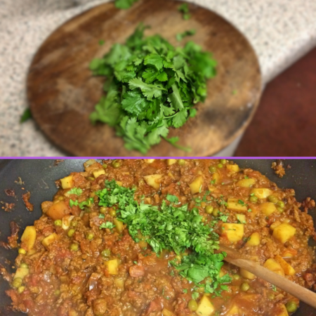 An option to add Coriander to the Quorn Keema Masala