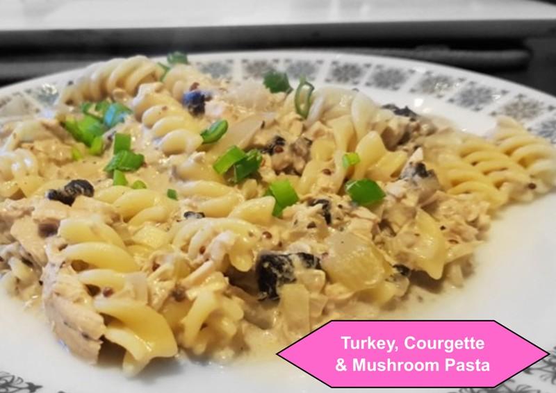 Turkey, Courgette and Mushroom Pasta