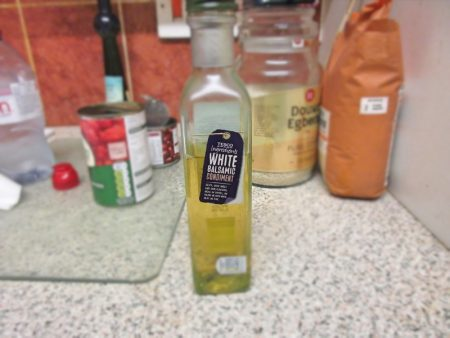 White Balasamic Vinegar replaced White Wine Vinegar for my Wheelie Easy Burritoless Beef Burritos